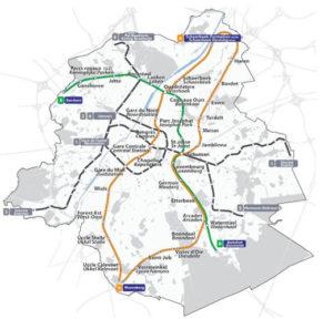 Tracé du REB - Réseau express bruxellois